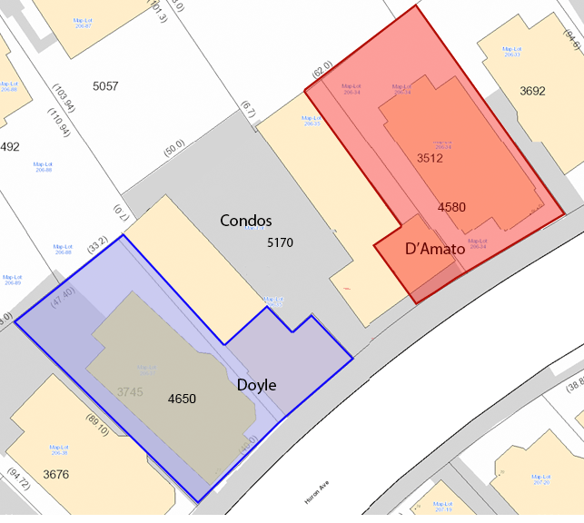 Map of proposed subdivision